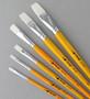 Cheep Brush White Nylon Long Handle Flat #4