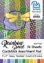 """Paper Accents Cardstock Pad 5""""x 7"""" Rainbow Pearlized Assortment 24pc"""