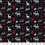 Emma & Mila Forest animals 8 yard Cotton fabric by the bolt