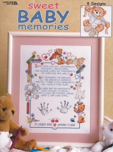 Leisure Arts Sweet Baby Memories Cross Stitch Book