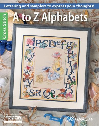Leisure Arts Herrschners Cross Stitch A To Z Alphabets Book