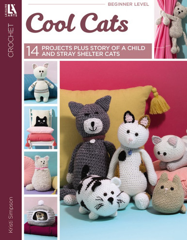 Leisure Arts Cool Cats Book