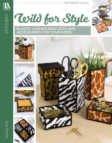 Leisure Arts Wild For Style Plastic Canvas Book