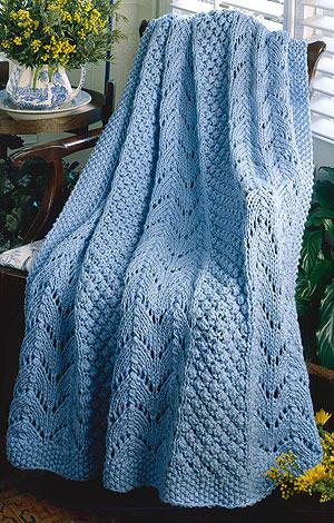 ePattern Fan Afghan Knitting