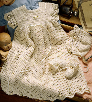 ePattern Spider Edge Christening Set to Crochet