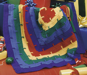 ePattern Rainbow Block Afghan Crochet Pattern