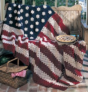 ePattern All American Afghan Crochet Pattern
