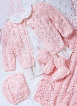ePattern Perfectly Pink Layette