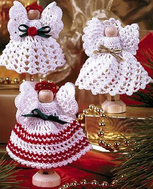 ePattern Crochet Clothespin Angels