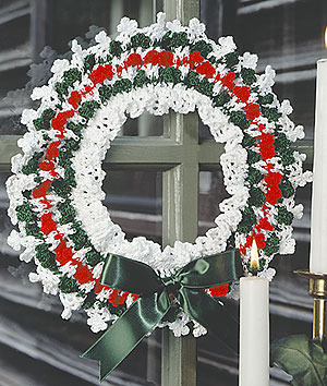 ePattern Holiday Picots Wreath Crochet