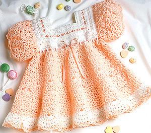 ePattern Peach Sherbet Dress