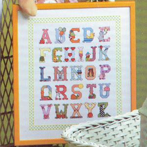 ePattern Baby Alphabet Sampler Cross stitch
