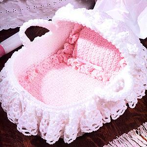 ePattern Dolly's Bassinet Crochet Pattern