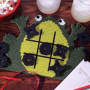ePattern Tic-Tac-Toad Plastic Canvas Pattern
