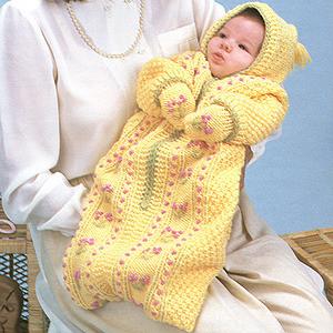 ePattern Baby Bunting & Mitts knitting pattern