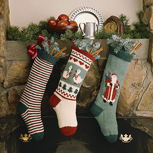 ePattern Christmas Stocking Trio