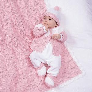 ePattern Pink & White Shell Layette