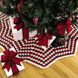 ePattern Holiday Pizzazz Tree Skirt Crochet Pattern