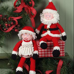 ePattern Jolly Shelf Sitters Crochet pattern