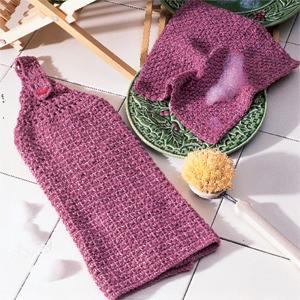ePattern Rosy Denim Dishcloth Set Crochet pattern