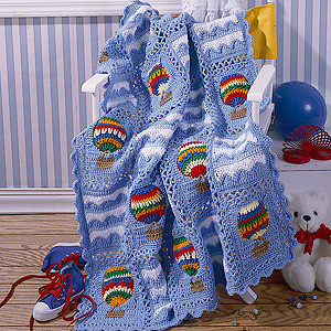 ePattern Up Up and Away Afghan Crochet