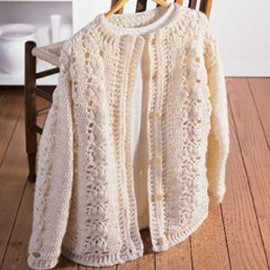 ePattern Crown Cardigan Crochet Pattern