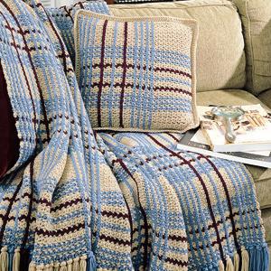 ePattern Pleasing Plaid Set Crochet Pattern
