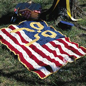 ePattern American Homecoming Afghan Crochet