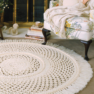 ePattern Large Picot Lace Rug Crochet Pattern