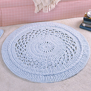 ePattern Small Picot Lace Rug Crochet Pattern