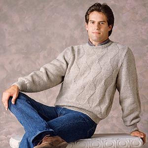 ePattern Men's Diamond Pullover Knit pattern