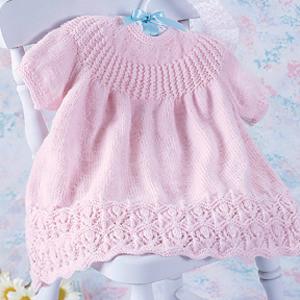 ePattern Pink Lotus Baby Dress