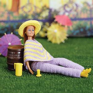 ePattern Fashion Doll Poncho Set Crochet Pattern
