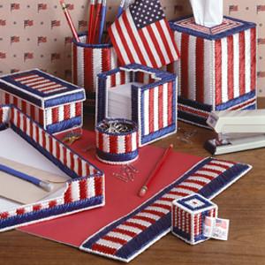 ePattern Patriotic Desk Set