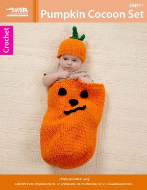 ePattern Pumpkin Cocoon Set crochet pattern