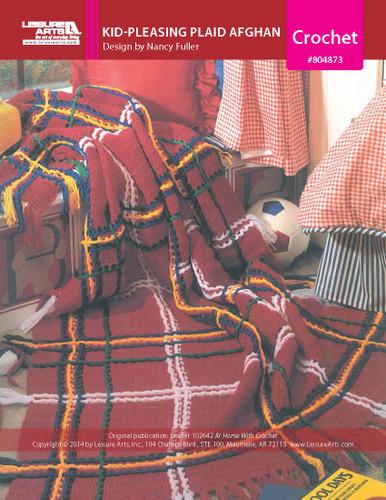 ePattern Kid-Pleasing Plaid Afghan Crochet Pattern
