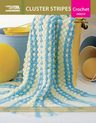 ePattern Cluster Stripes Crochet Pattern