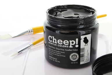 Cheep! Acrylic Paint 16.9oz Jar Lamp Black