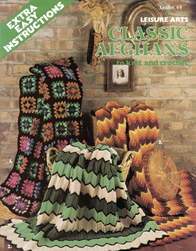 Leisure Arts Classic Afghans to Knit and Crochet - Digital Pattern