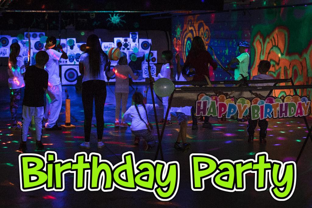 Glow in the Dark ARCHERY Birthday party Winnipeg Manitoba