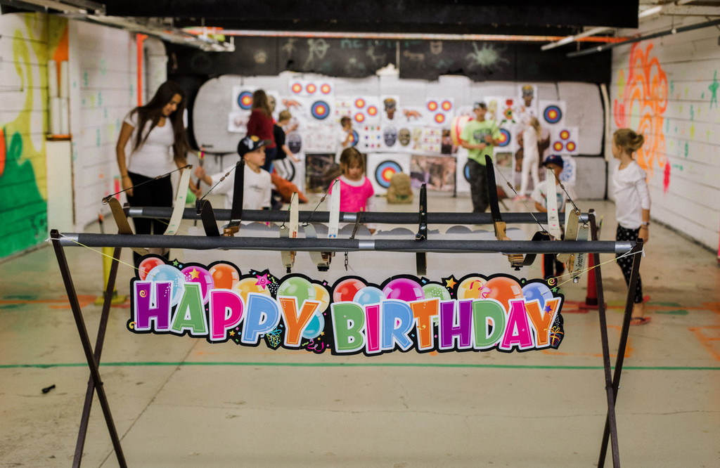 collecting arrows winnipeg birthday archery party kids youth