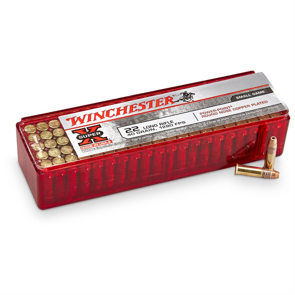 WINCHESTER 40GR 22LR 1280FPS POWER POINT PLATED