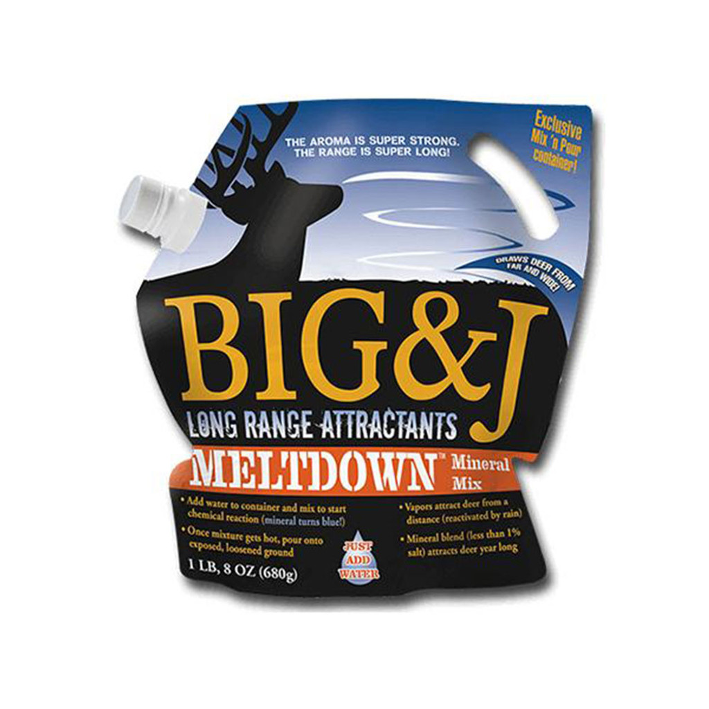 BIG AND J MELTDOWN 1.5# BAG MINERAL ATTRACTANT