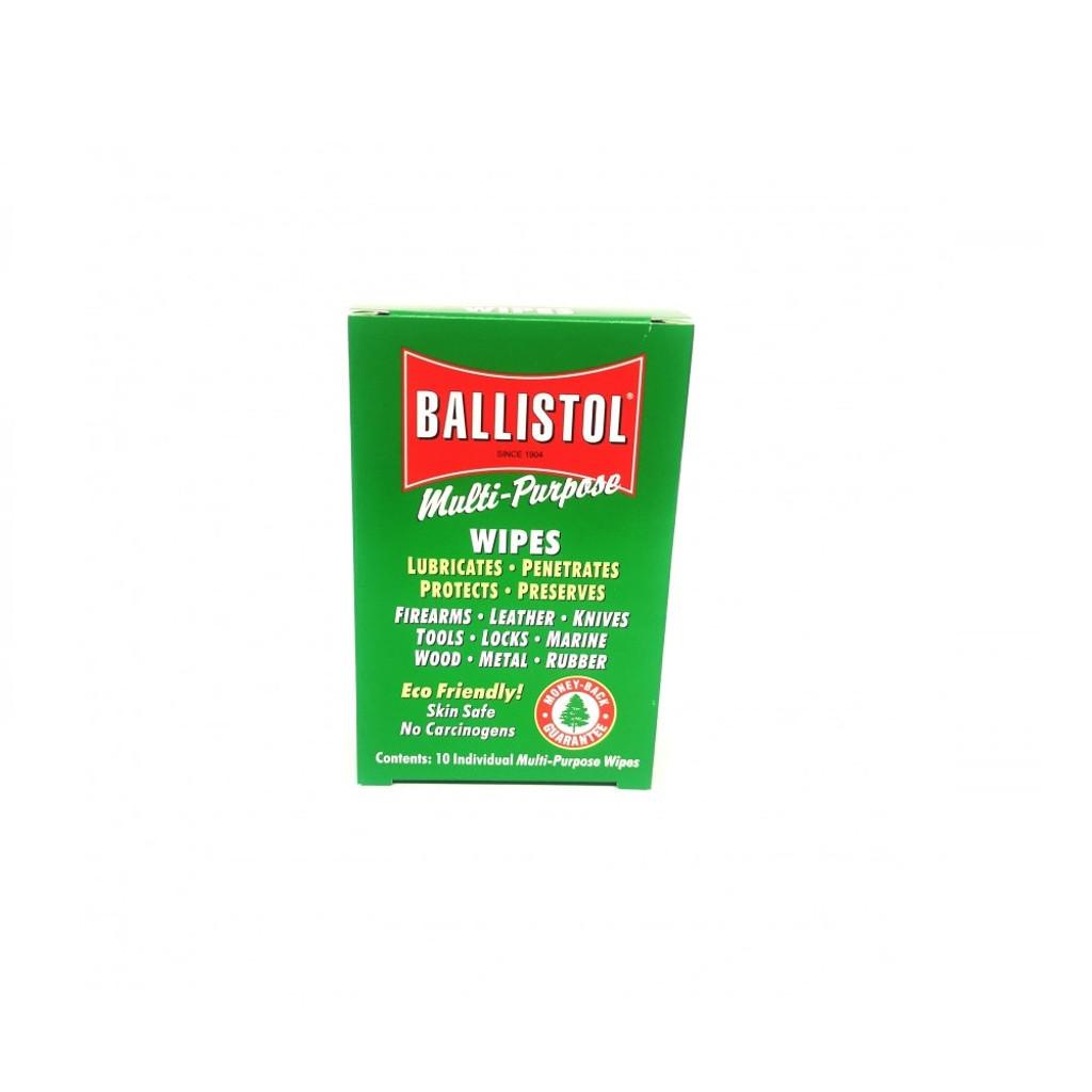 ballistol wipes 10 piece box