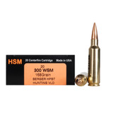 HSM 300WSM 168GR BERGER HPBT HUNTING VLD AMMO
