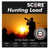SCORE 12GA 2 3/4 #6 SHOT LEAD SCORE