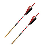 BLACK EAGLE VINTAGE ARROWS CRESTED W/FEATHERS 6 PACK