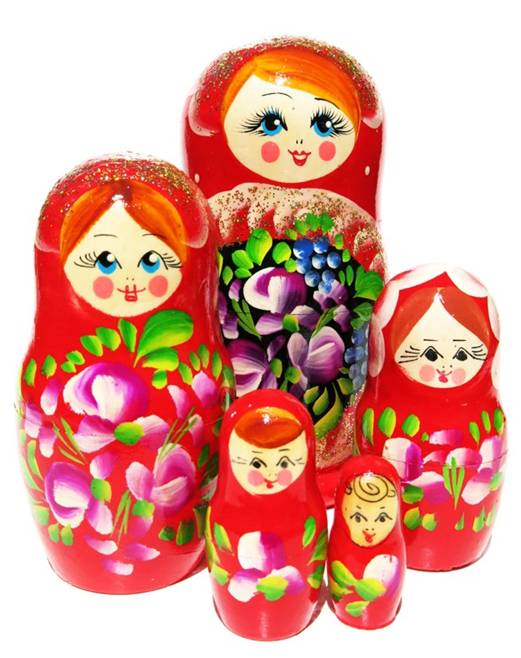 """Nesting doll /""""Nastya with bouquet/"""" 10 pcs"""
