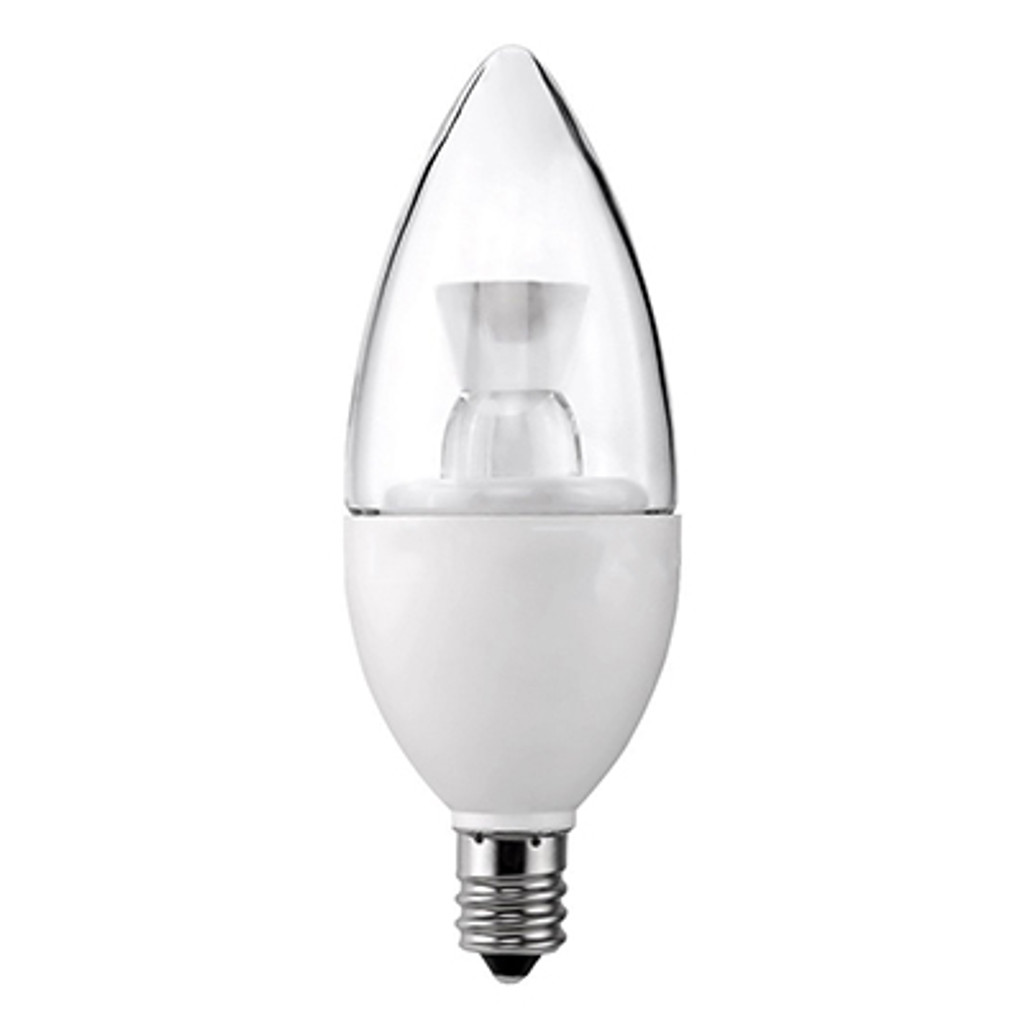 Dimmable Clear Candelabra LED, 5W (40W equiv), 2700K