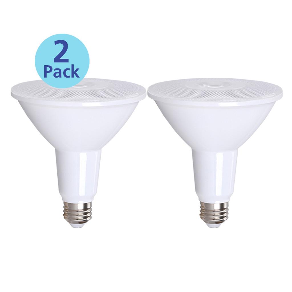 2-Pack Dimmable Par38 LED, 15W (100W equiv), 2700K